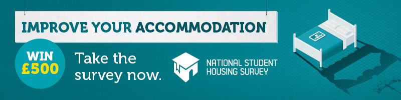Improve your accommodation - Take the survey for a chance to win £500